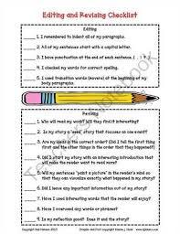 essay revision checklist  essay revision essay revision checklistsgraphic organizers   engrade