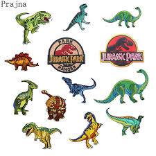 2019 <b>Prajna</b> Dinosaur S1 <b>Jurassic Park Patch</b> Embroidered Ironing ...