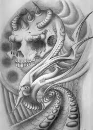 Bio-<b>Mechanical Skull</b> 4 by sammydodger1 on DeviantArt