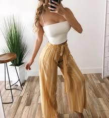 Sydney Flowy Pants(YELLOW) – ootdfash | Summeryfashiony ...