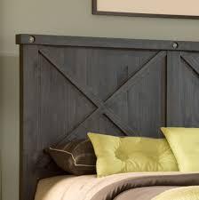 piece emmaline upholstered panel bedroom: modus yosemite solid wood bed headboard