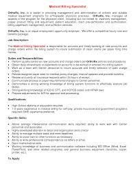 materials medical billing specialist medical billing resume resume materials medical billing specialist medical duties of medical biller