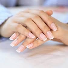 YUNAI <b>24 Pcs</b>/<b>set</b> French Nails Nail Art Pre-design <b>Acrylic Fake</b> Nail ...