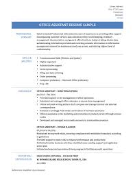 office assistant resume samples and templates office assistant resume