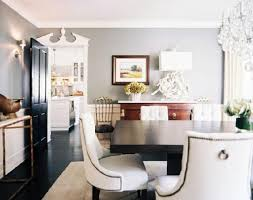 beautiful dining room design with gray walls paint colormarble top gold console table glossy black door wwhite federal style molding modern beautiful dining room furniture