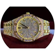 Full ICED Out <b>Luxury</b> Stylsh <b>Super</b> Bling Iced Out Big <b>Dial</b> Octagon ...