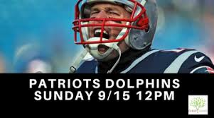 Patriots VS Dolphins Game Watch Tickets, Sun, Sep 15, 2019 at 12 ...
