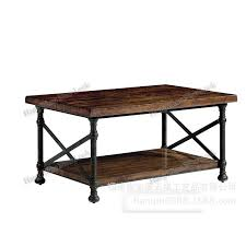 american country loft style wrought iron antique elm old retro square living room coffee table side american country loft style