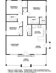 images about Floor Plans on Pinterest   Floor plans  House    Simple Rectangular House Plans   bathrooms and garage porch at front