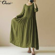 Celmia <b>Women</b> Vintage Maxi <b>Dress 2019 Spring</b> Summer Long ...