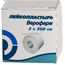 <b>Пластырь Верофарм 3х500 см</b>. на тканевой основе купить по ...