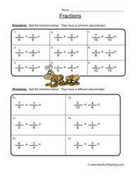 Fraction Worksheets - Have Fun TeachingFractions Worksheet 2