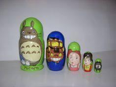 Jollylife <b>5Pcs</b> Nesting Doll Handmade Wooden <b>Cute Cartoon</b> ...