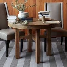 west elm emmerson reclaimed wood round dining table b131t modern noble lacquer dining table