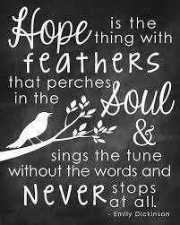 Emily Dickinson Quotes About Hope. QuotesGram via Relatably.com