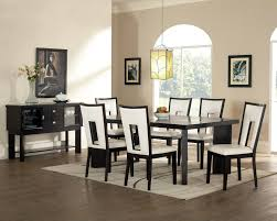 chair dining tables room contemporary: glass light chrome polished modern chandelier modern dining room set two brown backrest dining chair dining room modern furniture wooden frame wall mirror