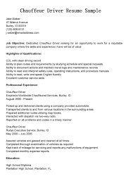 Driver Resumes: Chauffeur Driver Resume Sample SHARE with Friends and Family and spread the JOY!