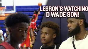 LeBron & Bronny WATCH Zaire Wade! INSANE POSTER ...