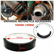 <b>Universal Motorcycle Oval</b> Exhaust Protector Can Cover For 100mm ...
