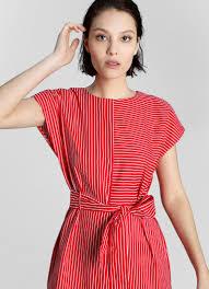 <b>Платье прямого силуэта в</b> полоску (LR4W83-14) купить за 999 ...