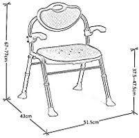 ZhuFengSD Shower Stool <b>Bathing</b> Chair Folding <b>Aluminum Alloy</b> ...