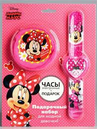 Электронные наручные часы и <b>кошелек</b>, Минни Маус <b>Disney</b> ...