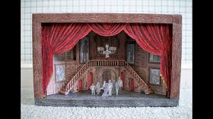 paper model of the addams family musical broadway stage set design youtube addams family lighting set