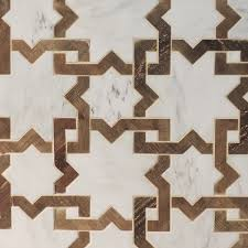 design moroccan tiles vidal french oak and calacatta marble mosaic moroccan pattern marble wood ti