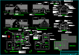 Cottage plan in AUTOCAD DRAWING   BiblioCADCottage plan  dwgAutocad drawing