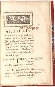 the articles of confederation the gilder lehrman institute the articles of confederation 1777
