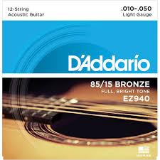 <b>D'Addario</b> EZ940 - <b>струны</b> для акуст. <b>гитары</b>, 12 <b>струн</b>, бронза 85 ...