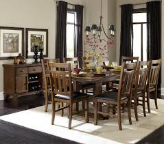 kitchen pedestal dining table set:  piece double pedestal dining room set in warm oak beyond stores