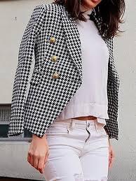 Women <b>stylish turn down neck long</b> sleeve blazer - ClothingI