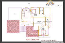 Beautiful Sq  Ft Bedroom Villa Elevation and Plan   Kerala    Villa Plan and Elevation   May