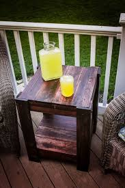 patio furniture from pallets. pallet end table easy diy outdoor furniture by ready at http patio from pallets