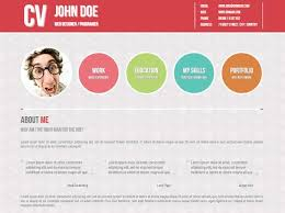 top  professional online cv  amp  resume templates   web development    symplicity cv portfolio page