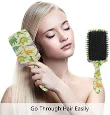 Cute Cartoon <b>Dinosaur</b> Art <b>Prints</b> Hair Brush Comb Scalp Massage ...