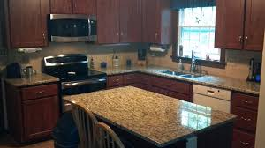 shaped kitchen granite countertop combined wooden