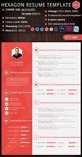 creative  infographic resume templateshexagon creative resume template design