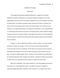 leadership philosophy essay  noew ipnodns ruleadership philosophy leadership philosophy leadership philosophy introduction this assignment analyzes leadership