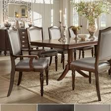 transitional dining chair sch: lasalle espresso nail head accent transitional dining chairs by tribecca home set of