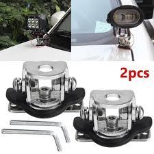 2PCS <b>Universal Stainless Steel Car</b> Auto Hood LED Work Light ...