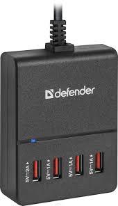 <b>Зарядное устройство Defender UPA</b>-40, 4хUSB, 5V/5A, черный ...