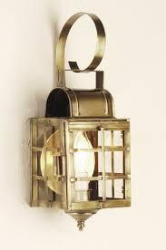 606B <b>Antique Brass Wall Mount</b> Lantern, Marblehead Series ...