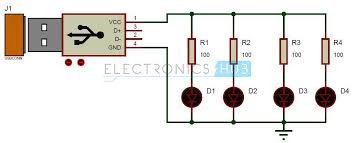 circuit diagram  usb and led on pinterest