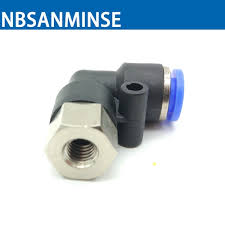 NBSANMINSE <b>10Pcs</b>/<b>lot</b> PLF M5 1/8 <b>1/4 3/8</b> 1/2 Air Pneumatic Push ...