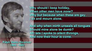 american poet ralph waldo emerson poem