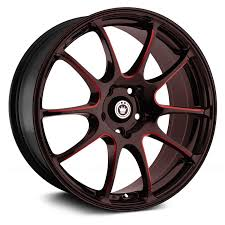<b>KONIG</b>® <b>ILLUSION</b> Wheels - Black with Red Ball Cut Machined ...