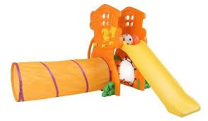 Детская пластиковая <b>горка</b> с туннелем <b>Сказочный</b> домик SL-17 ...