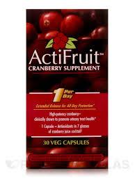 <b>ActiFruit</b>™ <b>Cranberry Supplement</b> - <b>30</b> Veg <b>Capsules</b>